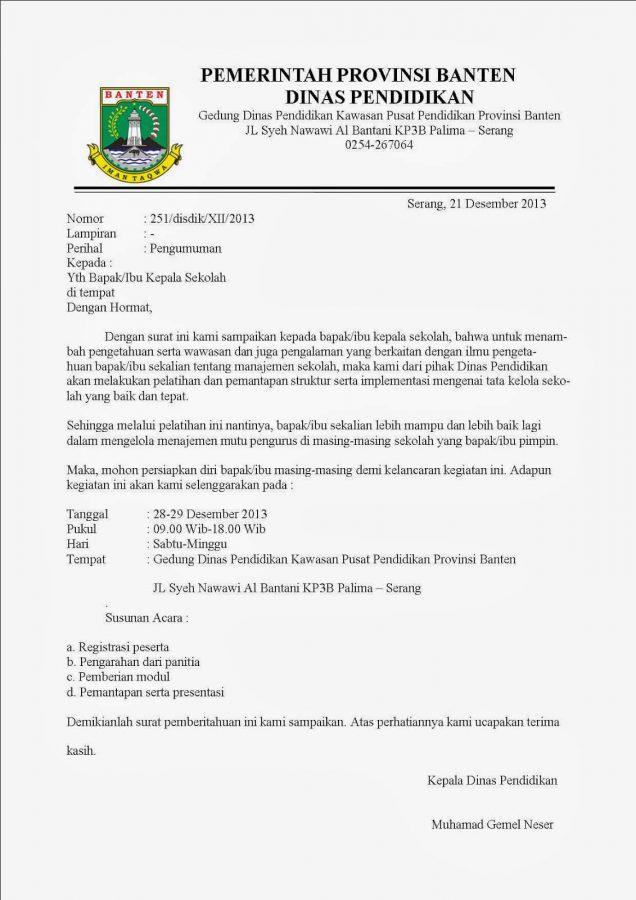 12+ Contoh Surat Dinas   Sekolah, Perusahaan, Kesehatan ...